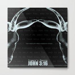 JOHN 3:16 - Sinner's Prayer (Alrealon Musique) Metal Print