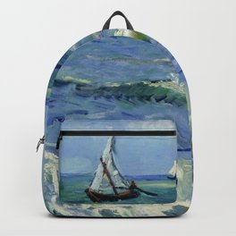 "Vincent Van Gogh ""The Sea at Les Saintes-Maries-de-la-Mer"" Backpack"