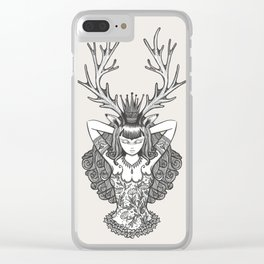 My Deer Girl Clear iPhone Case