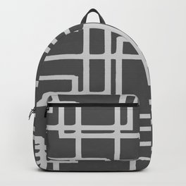 Retro Modern Blanched Slate Rectangles On Storm Grey Backpack