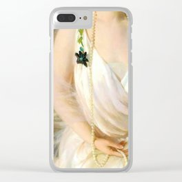 Portrait of Agnes Marsh Clear iPhone Case