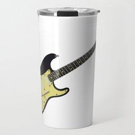 Black Electric Guitar Travel Mug