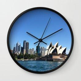Opera of a Skyline Wall Clock