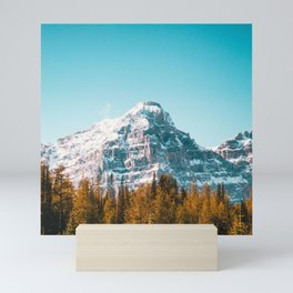 Canada Photography - Snowy Mountain Behind Canadian Forest Mini Art Print