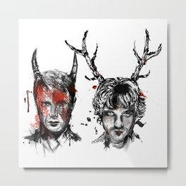 Will and Hannibal Metal Print