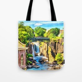 Paterson Great Falls in National Historical Park Tote Bag
