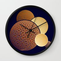 planets Wall Clocks featuring - planets - by Digital Fresto