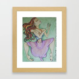 Green Dance Framed Art Print