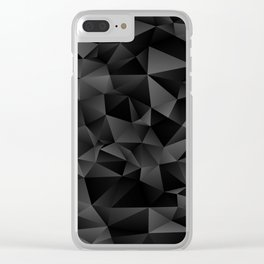 isometric pattern black Clear iPhone Case