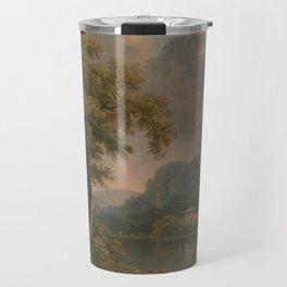 Abraham Pether - Wooded Hilly Landscape (1785) Travel Mug