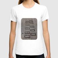 calendar T-shirts featuring Calendar Walk by Ethna Gillespie