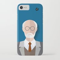 freud iPhone & iPod Cases featuring Freud by Diretório do Design