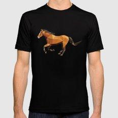 Geometric Horse MEDIUM Black Mens Fitted Tee