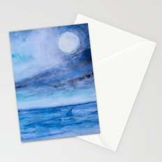 Sharks in love meeting Stationery Cards