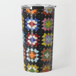 Crochet Granny Squares // Bright Travel Mug