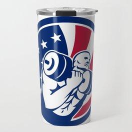 American Gym Circuit USA Flag Icon Travel Mug