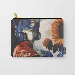 Optimus Prime With Sunflower Carry-All Pouch