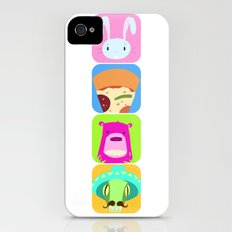 Floating BunnyHead Pop Square iPhone (4, 4s) Slim Case