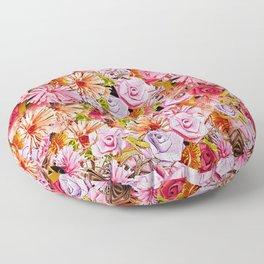 Paper Flowers Pattern Floor Pillow