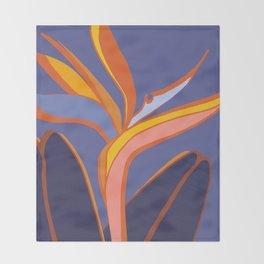 Bird Of Paradise Tropical Flower Throw Blanket