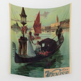 Paris Venice Victorian romantic travel Wall Tapestry