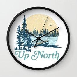 Vintage Up North Lake Wall Clock