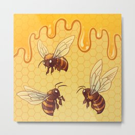 Honey and Bees Metal Print