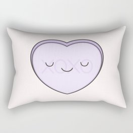 XOXO Candy Heart - Lilac Rectangular Pillow