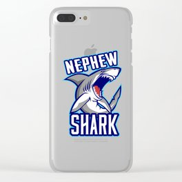 Nephew Shark Clear iPhone Case