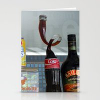 coca cola Stationery Cards featuring Coca cola by Miz2017