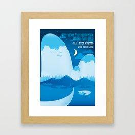 Dosed Framed Art Print