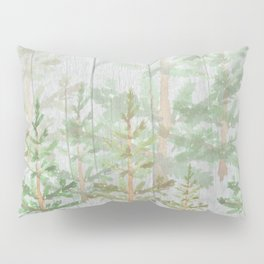 Pine forest on weathered wood Pillow Sham