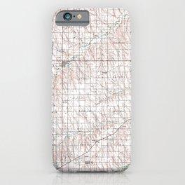 KS Oberlin 512919 1985 topographic map iPhone Case