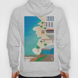 Cancun, Mexico - Skyline Illustration by Loose Petals Hoody