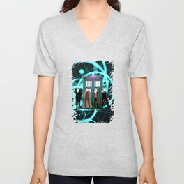 The Doctors And Tardis Unisex V-Neck