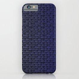 Binary Blue iPhone Case