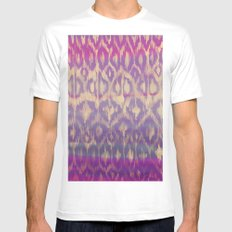 Ikat2 White MEDIUM Mens Fitted Tee