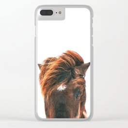 Horse Head Clear iPhone Case