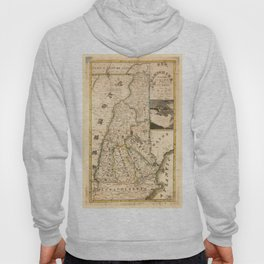 Map of New Hampshire (1817) Hoody