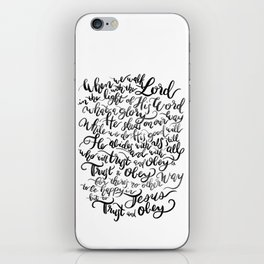 Trust and Obey - Hymn - BW iPhone Skin