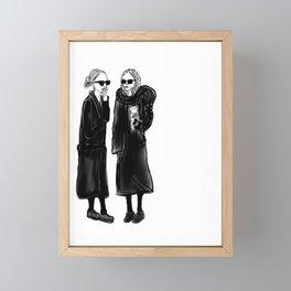 mary-kate n ashley 4 eva Framed Mini Art Print