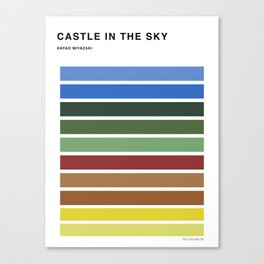 The colors of - Castle in the sky Canvas Print