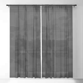 Midnight Camo Sheer Curtain