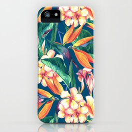 Tropical Bird Of Paradise Flowers iPhone Case