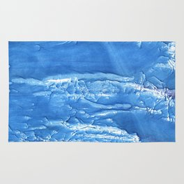 Corn flower blue abstract watercolor painting Rug