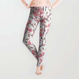 Cherry Blossom Pattern Leggings