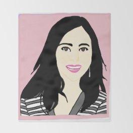 Knock Knock! Mina Pink Throw Blanket