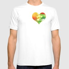 Love in Motion MEDIUM White Mens Fitted Tee