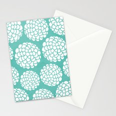 Turquoise Blossoms Stationery Cards