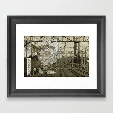 Steampunk Pirate Samurai Riding Iron Horse Framed Art Print